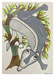 Gond Art 15x11 Inch Animal GD027