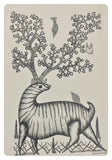 Gond Art 16x12 inch Animal GD036