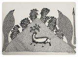 Gond Art 16x12 inch Deer & Birds GD043