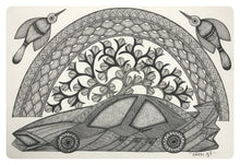 Load image into Gallery viewer, Gond Art 16x12 inch Car GD046