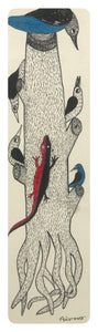 Gond Art 14x5 Inch Birds & Lizard GD049