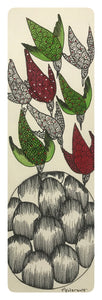 Gond Art 14x5 Inch Birds GD050