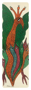 Gond Art 14x5 Inch Animals GD052