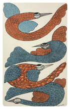 Load image into Gallery viewer, Gond Art 14x9 Inch Brids GD057