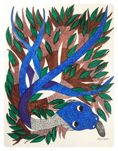 Load image into Gallery viewer, Gond Art 14x11 Inch Snake & Tree GD061