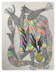 Gond Art 14x11 Inch Animals GD064