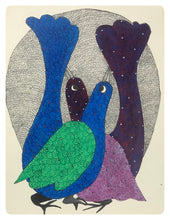 Load image into Gallery viewer, Gond Art 13x10 Inch Brids GD066