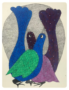 Gond Art 13x10 Inch Brids GD066