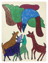 Load image into Gallery viewer, Gond Art 13x10 Inch Animals GD067