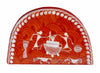 Warli Art Napkin Stand Semi Circle