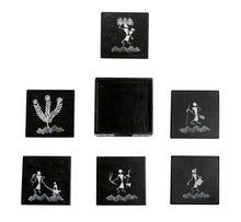 Load image into Gallery viewer, Warli Art Tea Coaster Square