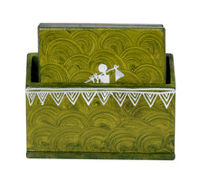 Load image into Gallery viewer, Warli Art Tea Coaster Standing