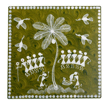 Load image into Gallery viewer, Warli Art Hot Plate