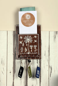 Warli Art Key + Letter Holder