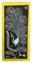 Load image into Gallery viewer, Warli Art 7x13 Inch Peacock WL004