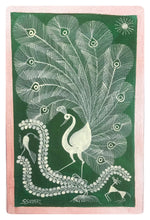 Load image into Gallery viewer, Warli Art 12x8 Inch Peacock WL006