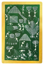 Load image into Gallery viewer, Warli Art 12x8 Inch Viillage WL008
