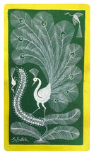 Load image into Gallery viewer, Warli Art 9x13 Inch Peacock & Birds WL010