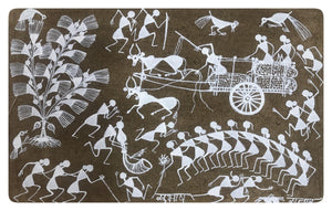 Warli Art 7x11 Inch VIllage WL016