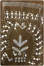 Load image into Gallery viewer, Warli Art 8x12 Inch Tarpa Dance WL019