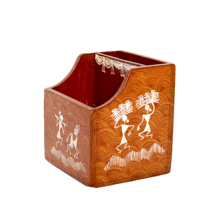 Warli Art Mobile cum Pen Stand