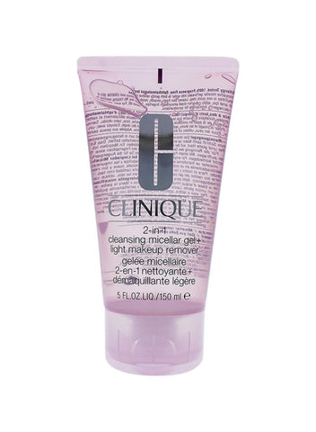 CLINIQUE  2 IN 1 CLEANSING MICELLAR GEL + LIGHT MAKEUP REMOVER 150 ML