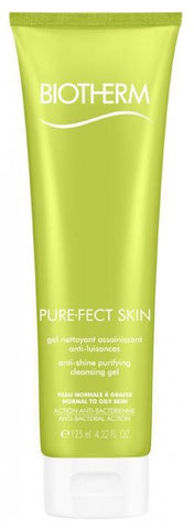 BIOTHERM-PURE-FECT SKIN ANTI-SHINE PURIFYING CLEANING GEL FOR COMBINATION TO OILY SKIN 125 ML (4525658734695)
