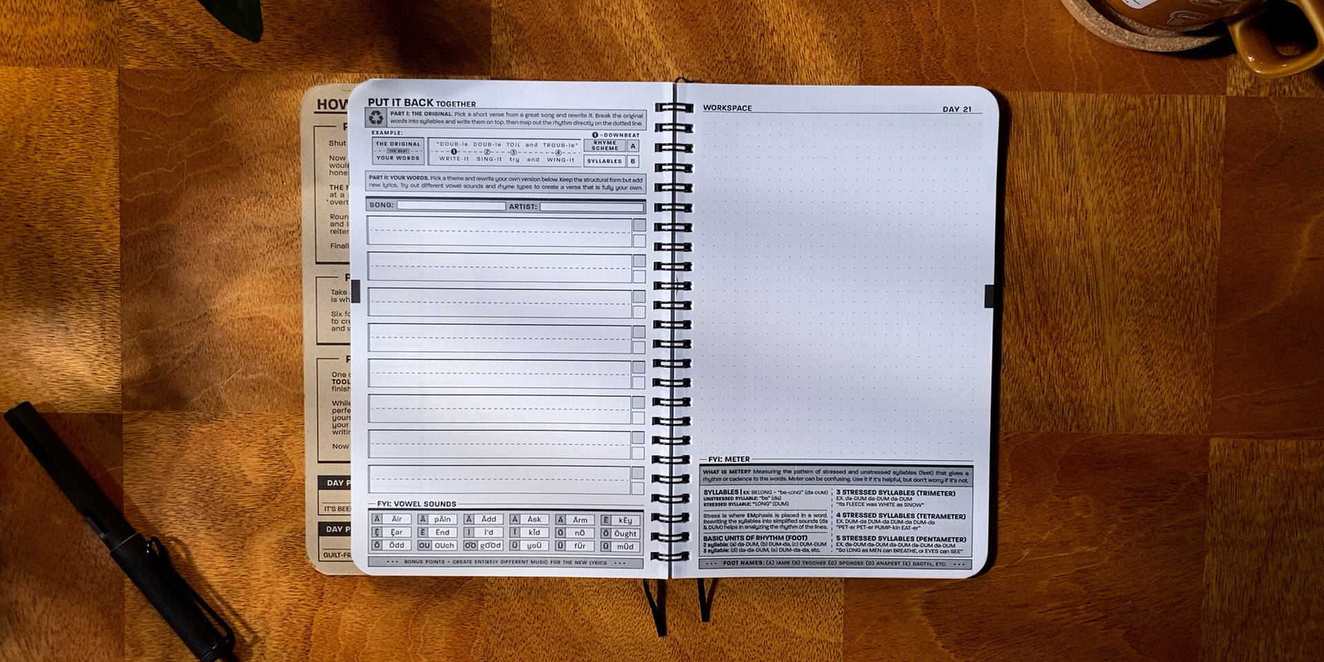 Practice Workbook open to the Put It Back Exercise