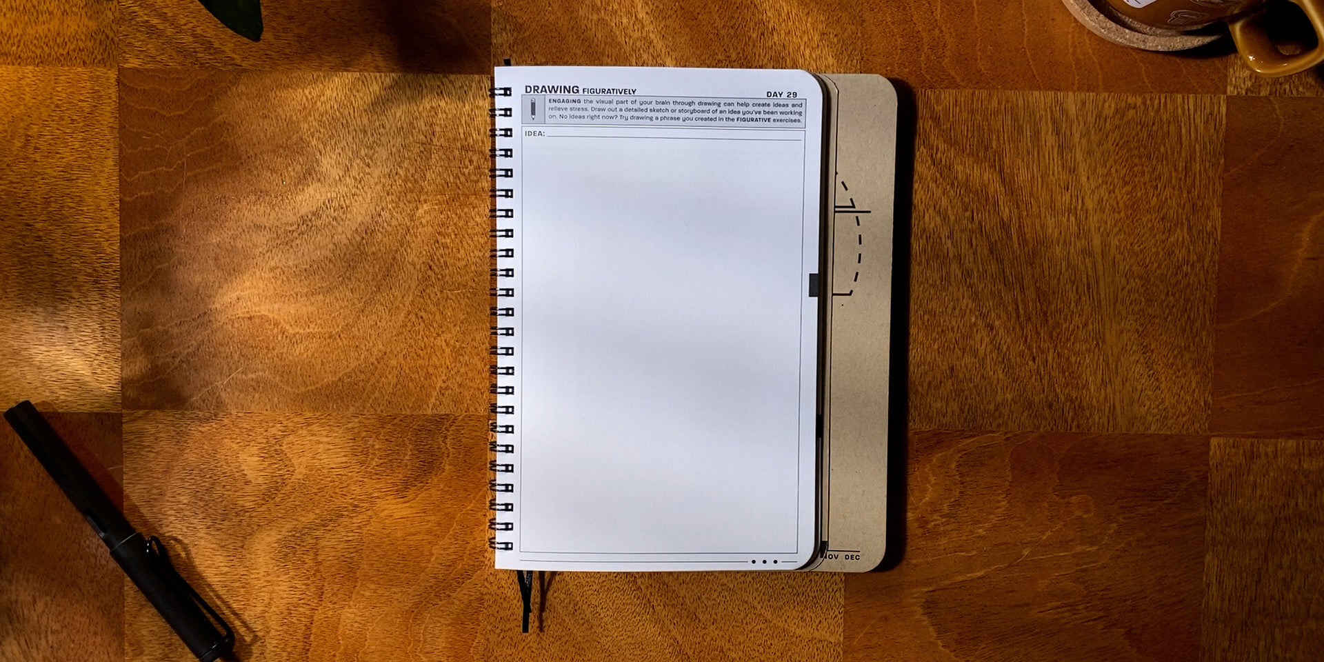 Practice Workbook open to the Drawing Figuratively Exercise