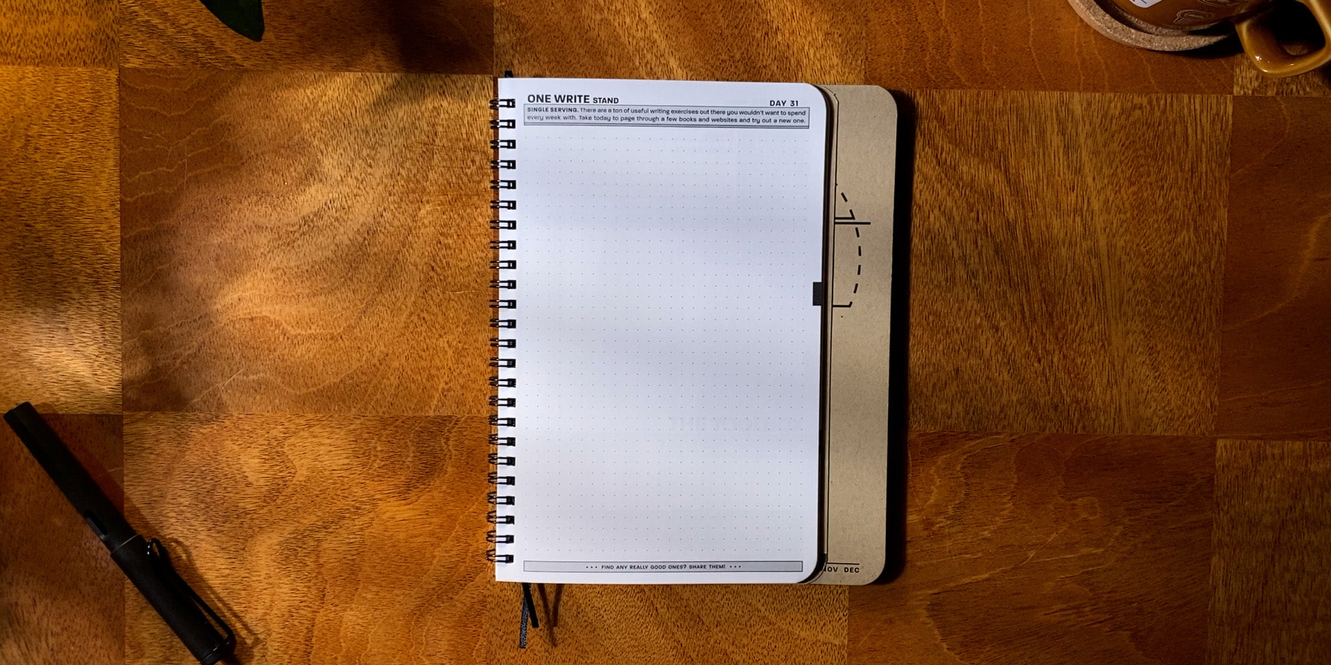 Practice Workbook open to the One Write Stand Exercise