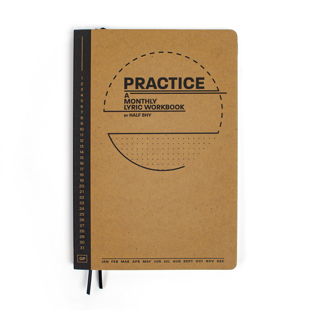 Practice Workbook showing the front cover laying flat