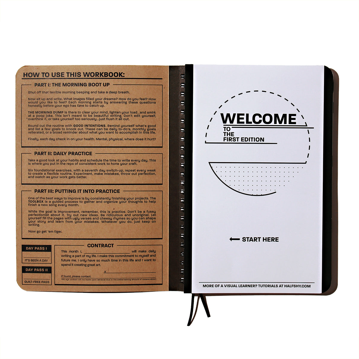 Practice Workbook open to the welcome page front