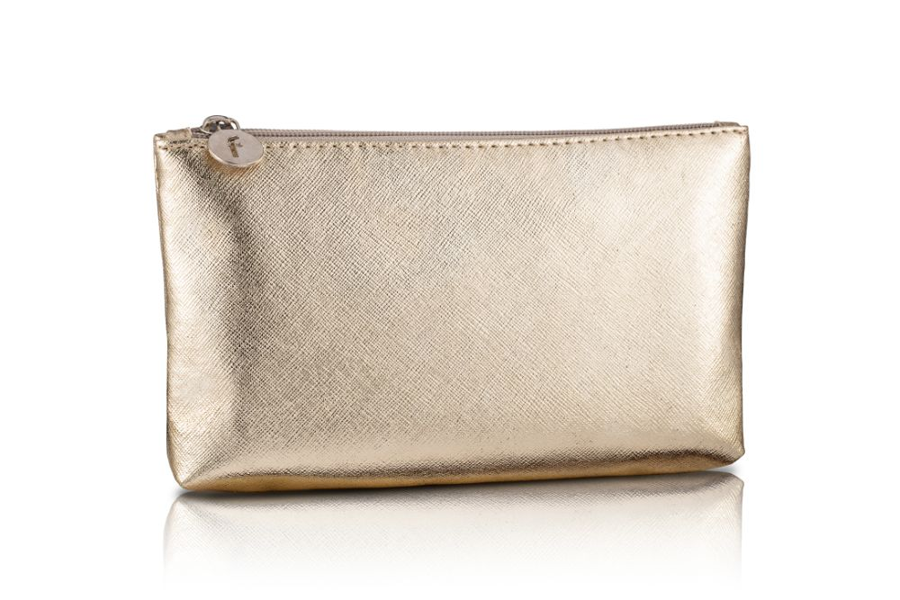Gold Makeup Bag