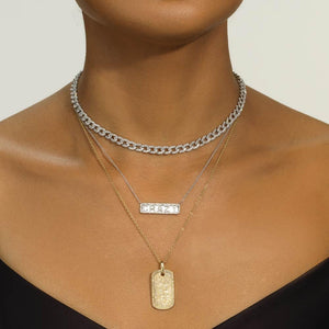 Large Dog Tag Pendant - Serena Williams Jewelry