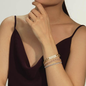 Large Pavé ID Link Bracelet - Serena Williams Jewelry