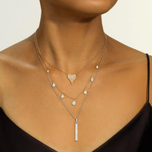 Load image into Gallery viewer, Diamond Droplet Necklace