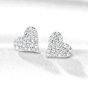 Heartfelt Diamond Earrings Set