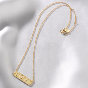 """Crazy"" ID Necklace"