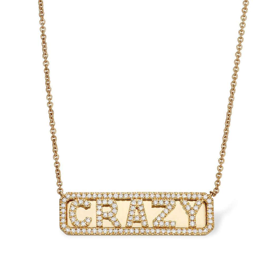 """Crazy"" ID Necklace - Serena Williams Jewelry"
