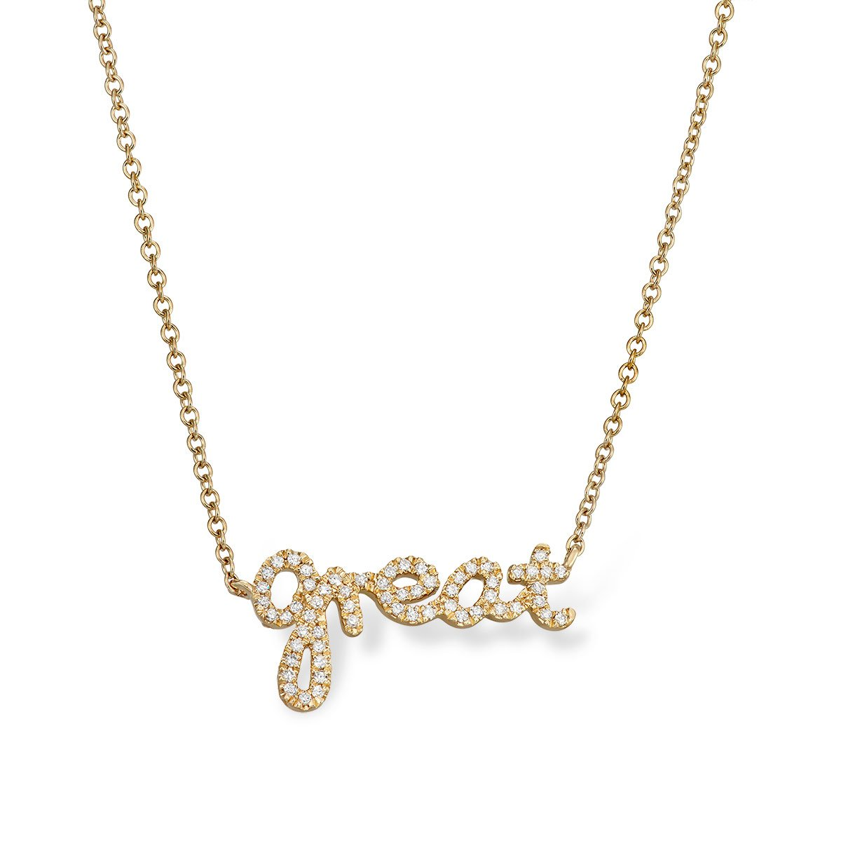 'Great' Message Necklace - Serena Williams Jewelry