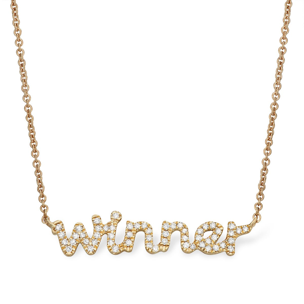 'Winner' Message Necklace - Serena Williams Jewelry