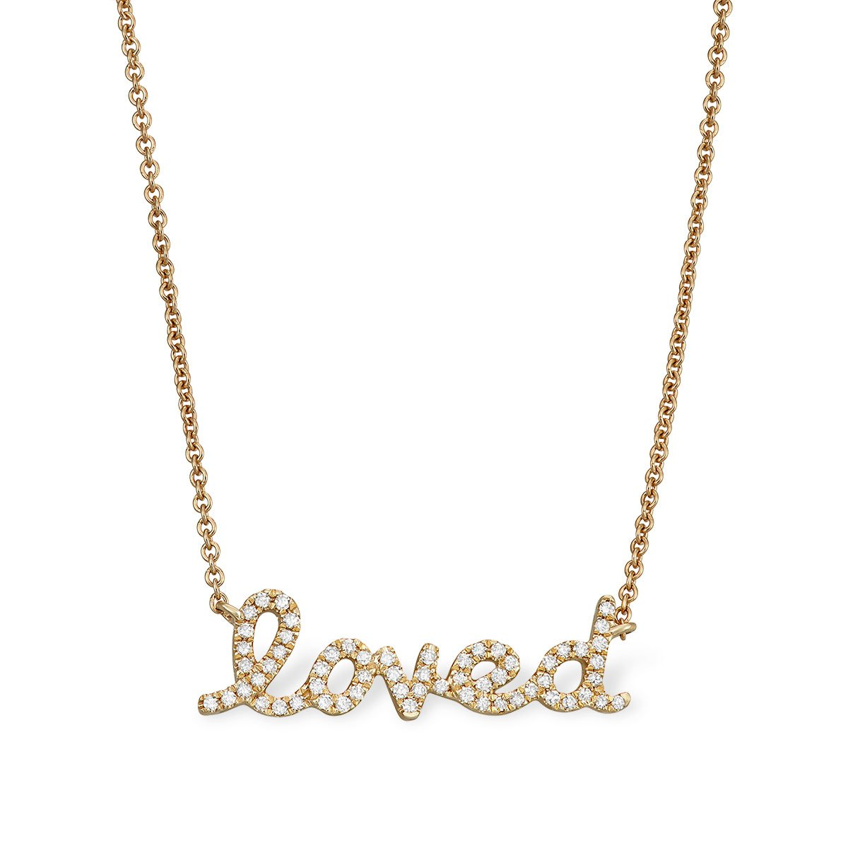 'Loved' Message Necklace - Serena Williams Jewelry