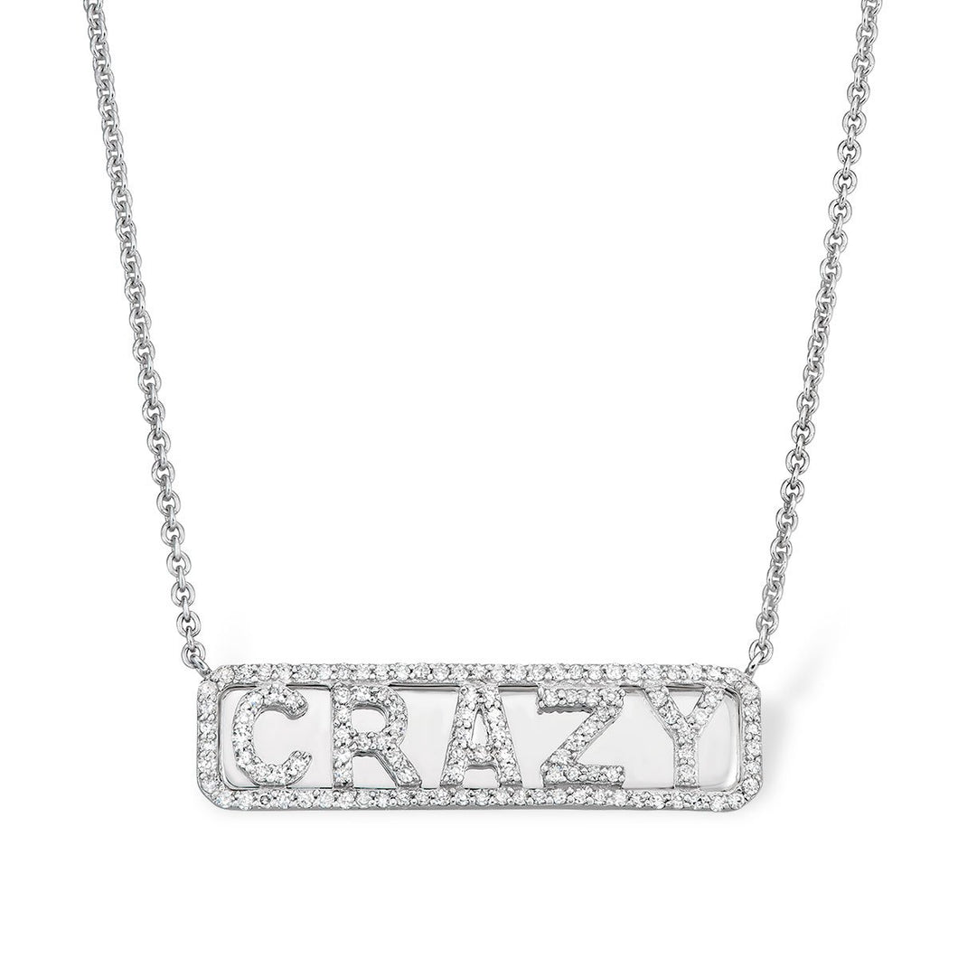 Silver 'Crazy' ID Necklace - Serena Williams Jewelry