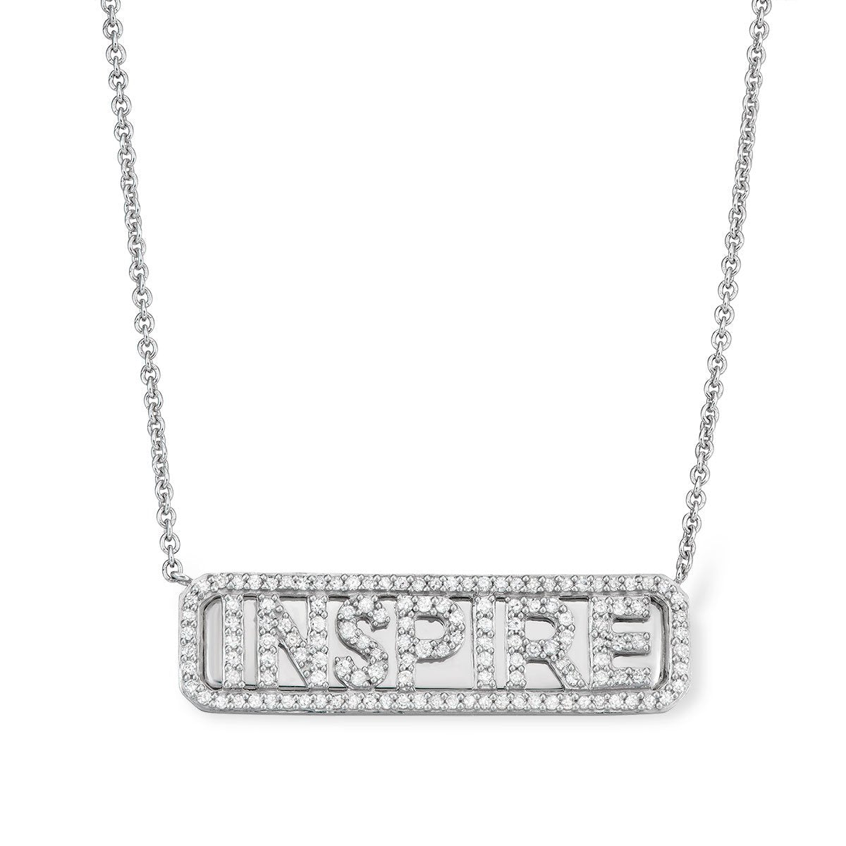 Silver 'Inspire' ID Necklace - Serena Williams Jewelry