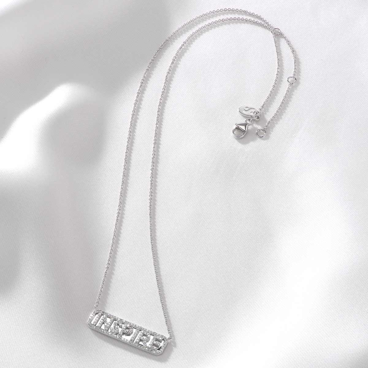 Silver 'Inspire' ID Necklace