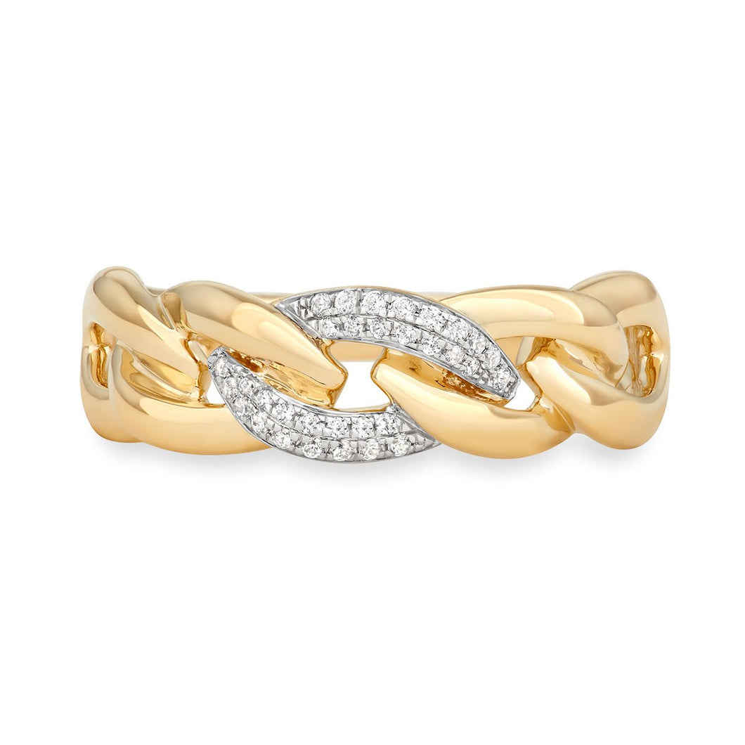 Diamond Link Ring - Serena Williams Jewelry