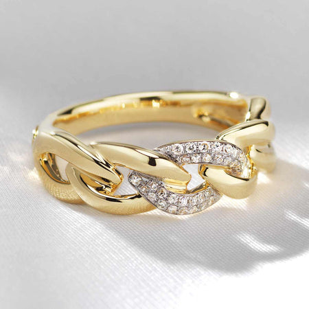 Diamond Link Ring