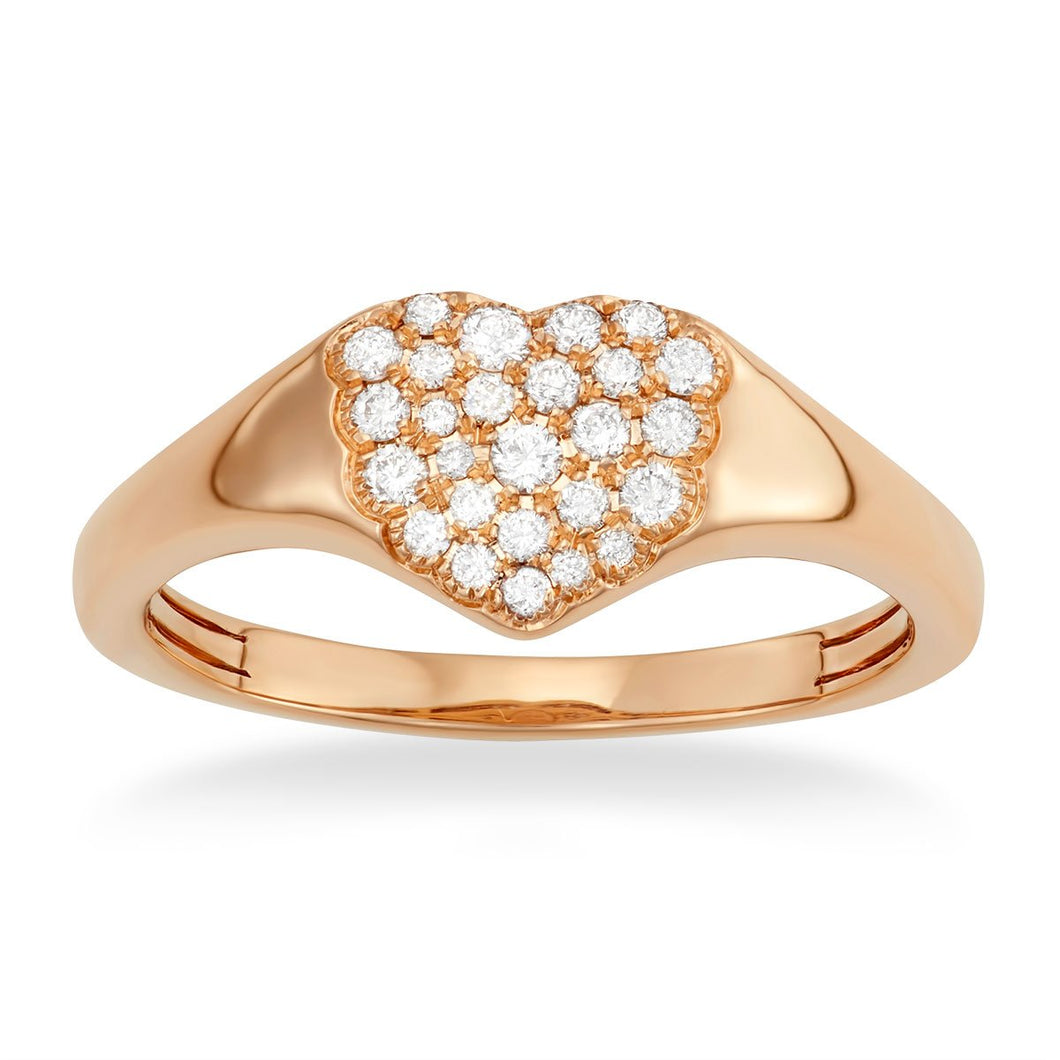 Heart Signet Pinky Ring - Serena Williams Jewelry