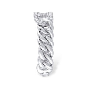 Pavé ID Chain Ring - Serena Williams Jewelry
