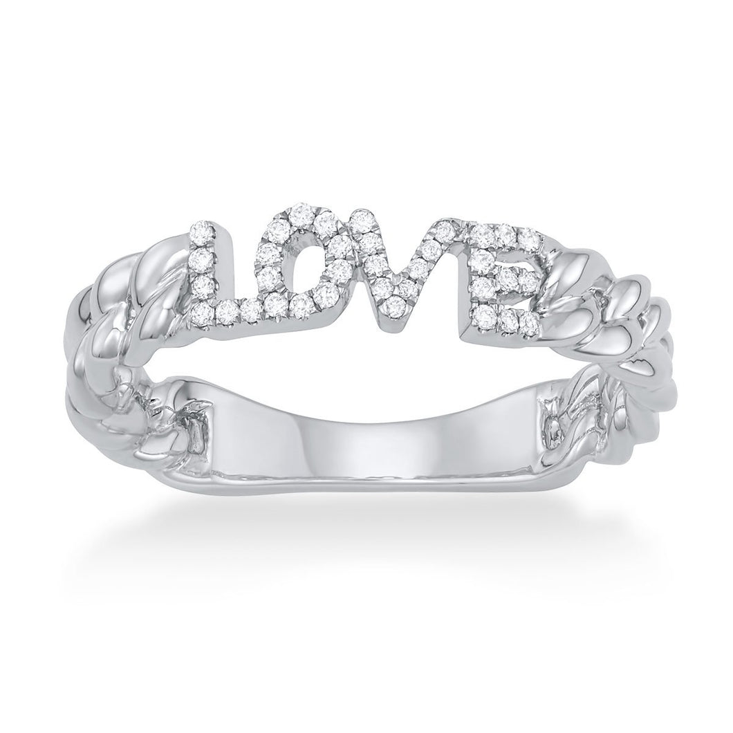 'Love' Link Ring - Serena Williams Jewelry